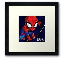 Spiderman Chibi Framed Print