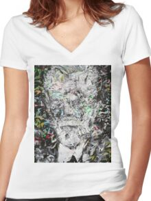 SIGMUND FREUD Women's Fitted V-Neck T-Shirt
