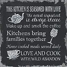 This Kitchen is Seasoned with Love by Debbie DeWitt