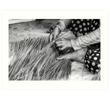 Cambodia:  The Art of Broom Making Art Print