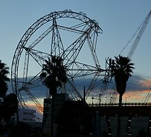 When was the last time you saw a ferris wheel being constructed? by PhotosByG