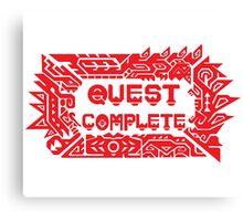 Monster Hunter Quest Complete Canvas Print