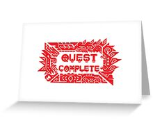 Monster Hunter Quest Complete Greeting Card