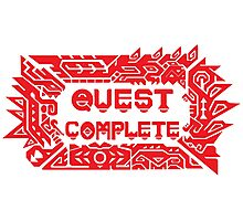 Monster Hunter Quest Complete Photographic Print