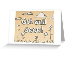 Cute Get Well Soon Card Greeting Card