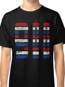9/11 RED WHITE AND BLUE NEVER FORGET Classic T-Shirt