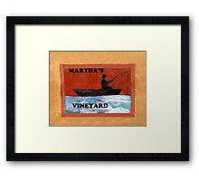 Vineyard Signage Framed Print