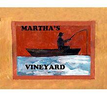 Vineyard Signage Photographic Print