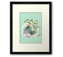Round Terrarium Framed Print