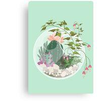 Round Terrarium Canvas Print