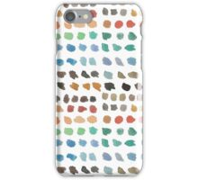 Cool Spectrum Paint Splodges on White Hand Painted Watercolors iPhone Case/Skin