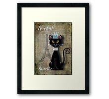 Le Chat, La Reine Framed Print
