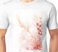 Floral Abstract #2 - Red wildflowers Unisex T-Shirt