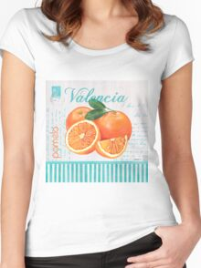 Valencia 1 Women's Fitted Scoop T-Shirt