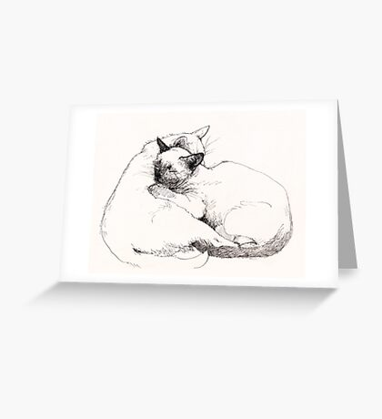 Chinky and Chang : two great mates! Greeting Card