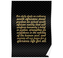 "Our daily deeds... ""Nelson Mandela"" Inspirational Quote Poster"