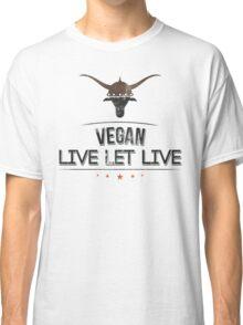 Vegan Live Let Live Classic T-Shirt
