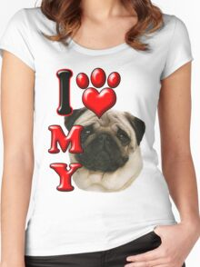 I Love My Pug Women's Fitted Scoop T-Shirt