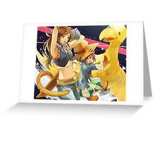 Cosplay Zidane & Vivi Girl Greeting Card