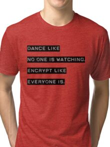 Encrypt like everyone is watching (text only) Tri-blend T-Shirt