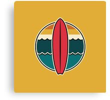 Surfboard graphic stickers, etc! Canvas Print