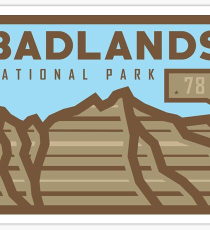 Badlands National Park stickers, gear! Sticker