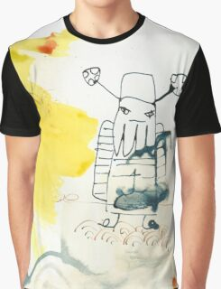 ink painting, abstract, abstrakte Malerei,Mann mit Bart Graphic T-Shirt