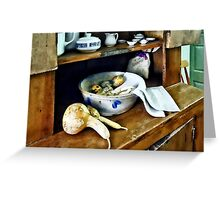 Butternut Squash in Kitchen Greeting Card