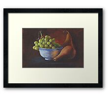 Still Life, Grapes and Pears Framed Print