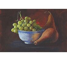 Still Life, Grapes and Pears Photographic Print