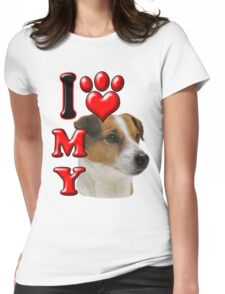 I Love My Jack Russell Womens Fitted T-Shirt