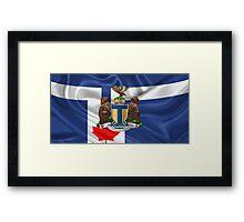 Toronto - Coat of Arms over City of Toronto Flag  Framed Print