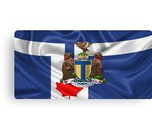 Toronto - Coat of Arms over City of Toronto Flag  Canvas Print