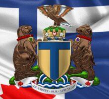 Toronto - Coat of Arms over City of Toronto Flag  Sticker