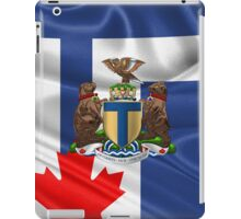 Toronto - Coat of Arms over City of Toronto Flag  iPad Case/Skin