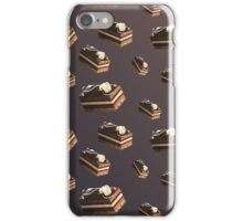 Dessert Doodle #01 Chocolate cake iPhone Case/Skin