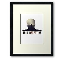 True Detective Intro Tshirt Framed Print