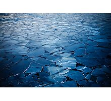 ice after sunset Photographic Print