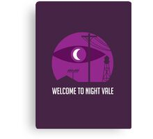 Welcome to Night Vale WTNV Canvas Print