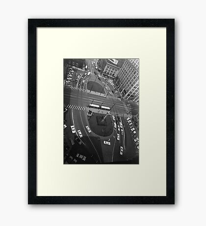Downtown Youngstown - Central Square, 1960s Framed Print