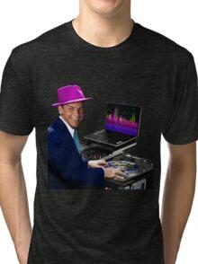 "DJ Frank Sinatra ""The Voice of the World"" Tri-blend T-Shirt"