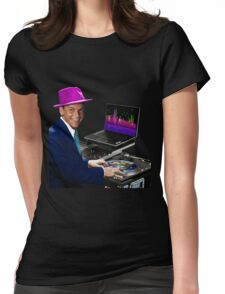 "DJ Frank Sinatra ""The Voice of the World"" Womens Fitted T-Shirt"