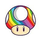 Rainbow shroom by Lauramazing