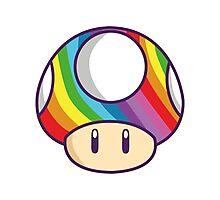 Rainbow shroom Photographic Print