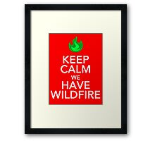 Keep Calm We Have Wild Fire Framed Print