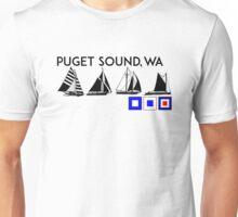 PUGET SOUND WASHINGTON SAILING YACHTING YACHT SAIL BOAT SEATTLE Unisex T-Shirt