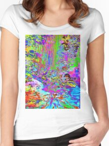 Psychedelic Forest Stream Women's Fitted Scoop T-Shirt