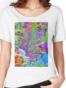 Psychedelic Forest Stream Women's Relaxed Fit T-Shirt