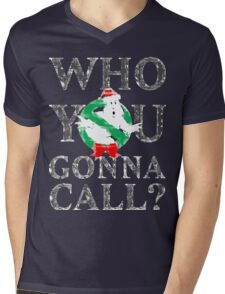 Christmas GhostBusters - Who You Gonna Call?  Mens V-Neck T-Shirt