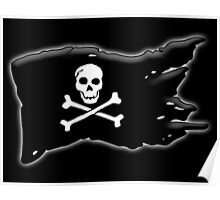 Pirate, FLAG, Skull & Crossbones, Jolly Roger, Buccaneers, Me Harties! Poster